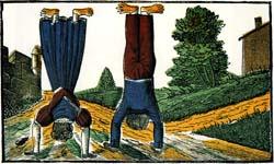Le Monde à l'envers, image d'Épinal, imprimerie Pellerin, détail.